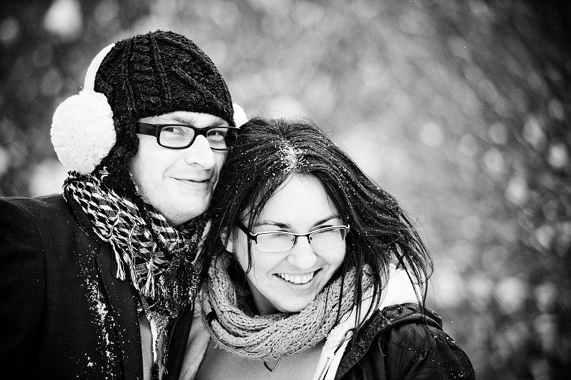 plener zimowy ślub